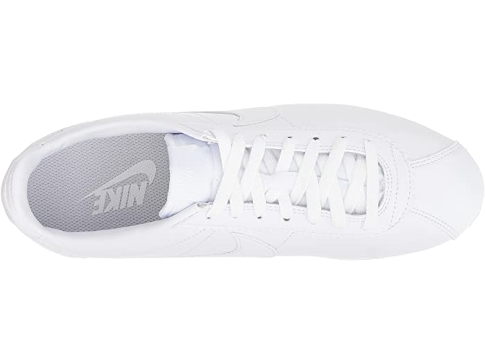 Nike Classic Cortez Leher White/white Sneakers & Athletic Shoes