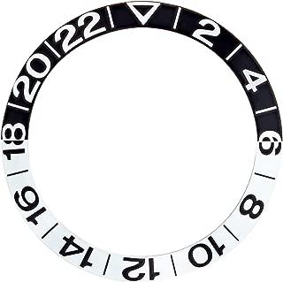 BEZEL INSERT FOR OMEGA GMT 300M SEAMASTER 2534.50 168.1620 50TH ANV BLACK/SILVER