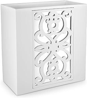 (Wastebasket) - Dwellza Mirror Janette Bathroom Trash Can (27cm x 15cm x 28cm ) Decorative Wastebasket- Resin Waste Paper ...