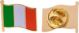 Ireland Country Flag Lapel Pin Enamel Made of Metal Souvenir Hat Men Women Patriotic Irish (Waving Flag Lapel Pin)