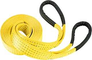 """RPS Outdoors TOW-113 Yellow 4"""" x 30' Deluxe Recovery Tow Strap (20,000 lb Break Strength)"""