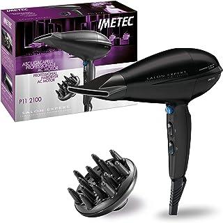 Imetec Salon Expert P11 2100 - Secador de pelo profesional, 2100W, velocidad del flujo de aire en salida a 142km/h, cerámica y turmalina, 8 combinaciones de aire y temperatura