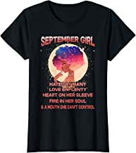 Womens September Girl Hated By Many Funny Birthday Gift T-Shirt