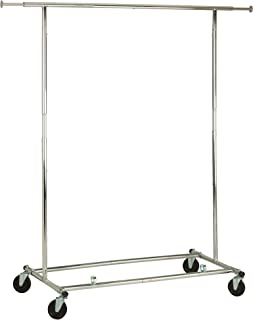 Collapsible Expandable Rolling Garment Rack, Chrome GAR-01304 Expandable Garment Rack