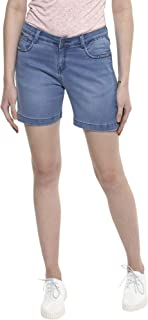 Crimsoune Club Blue Solid Women's Shorts