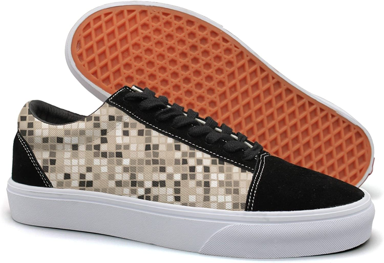 Winging Womens Abstract Mosaic Checkerboard Funny Canvas Sneakers Walking shoes