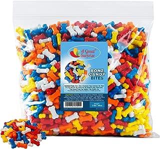 Candy Bones - Candy Bonz - Dog Bone Shape Candy, Assorted, Bulk 3 LB Party Bag Family Size