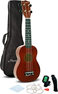 Martin Smith 312 Ukulele Starter Kit – Includes lessons, tuner, strap, spare strings and gig bag. Natural