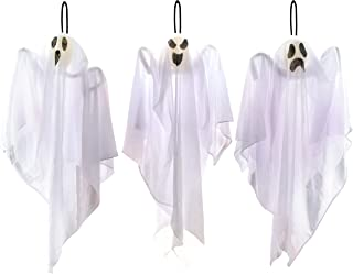 """JOYIN 3 Pack Halloween Party Decoration 25.5"""" Hanging Ghosts, Cute Flying Ghost for Front Yard Patio Lawn Garden Party Déc..."""