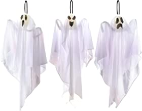 """JOYIN 3 Pack Halloween Party Decoration 25.5"""" Hanging Ghosts, Cute Flying Ghost for Front Yard Patio Lawn Garden Party Décor and Holiday Decorations"""