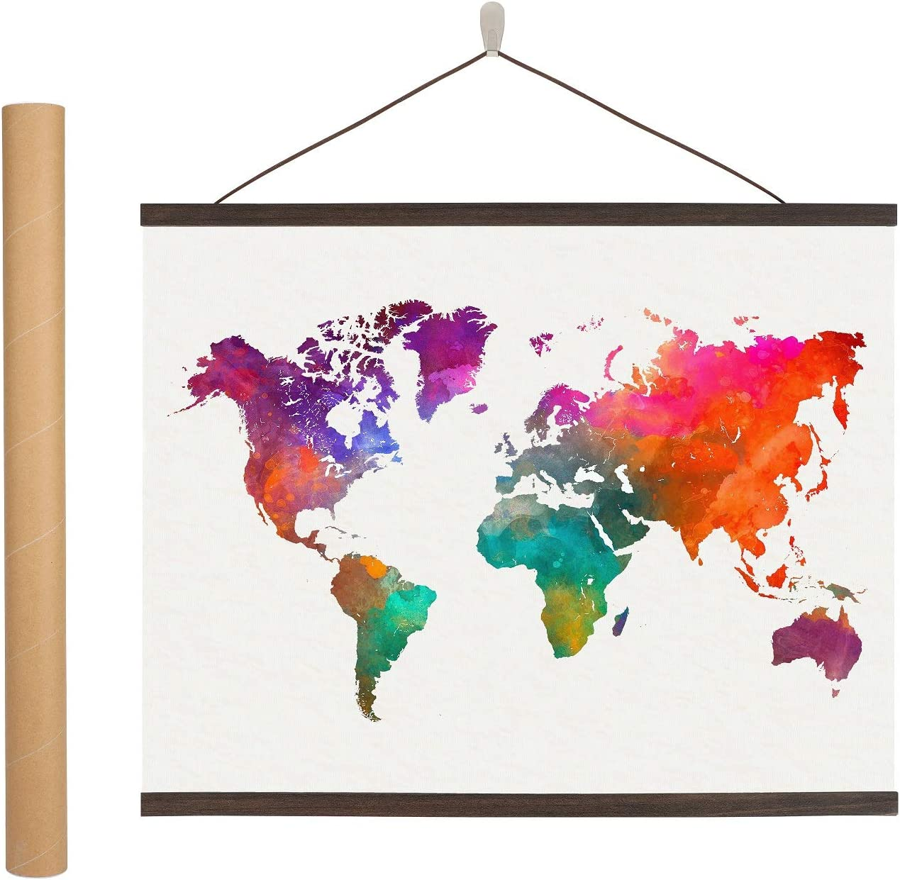 Magnetic Challenge the lowest price of Japan ☆ Poster Hanger Frame inches Cheap bargain 24 - Wooden