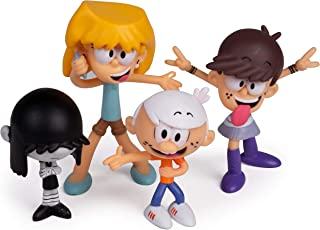 The Loud House Figure 4 Pack - Lincoln, Lori, Lucy, Luna - Action Figure Toys from The Nickelodeon TV Show - 3