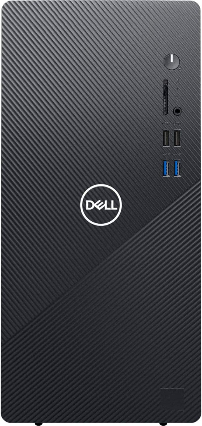 Dell Inspiron 3880 Business Desktop Computer, Intel Hexa-Core i5-10400 up to 4.3GHz (Beats i7-8700), 8GB DDR4 RAM, 1TB 7200RPM HDD, 802.11AC WiFi, Bluetooth, VGA, HDMI, Black, Windows 10 Pro
