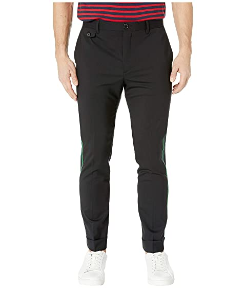 Paul Smith Slim Fit Trousers with Green Side Stripe