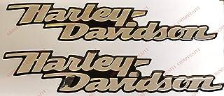 Logo Aufkleber Harley Davidson,Dyna Street Bob, Emblem, harzbeschichtet, 3D Effekt, 2 Stück Für Tankdeckel oder Helm. Chrom (verspiegeltes Silber)
