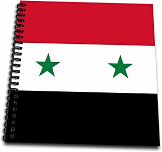 3dRose db_158443_1 Flag of Syria Syrian Red White Black with Two Green Stars Middle East Arab Country Arabic World Drawing Book, 8 by 8