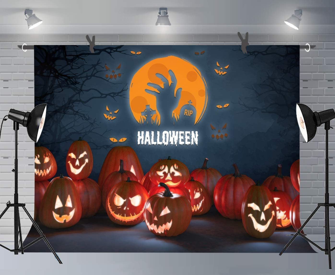 7x5ft Grim Reaper Background The Scary Ghost Photography Backdrop Halloween Photo Props WQFU004