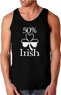 50 Percent Irish - St Patricks Day Dark Loose Tank Top