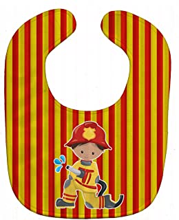 Caroline's Treasures BB6995BIB Baby Bib, Fireman Boy, Large