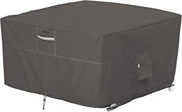 Classic Accessories Ravenna Square Fire Pit Table Cover, 42-Inch with Ravenna Cover