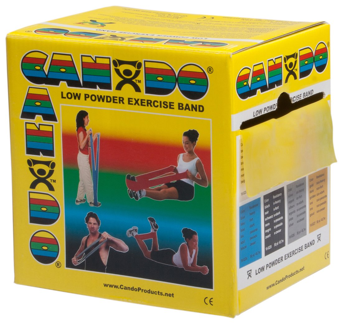 FEI 10-5221 Can-Do Low Bombing free shipping Powder Japan's largest assortment Exercise Band Roll 50 X-Ligh yd.