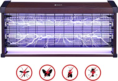 YUNLIGHTS Upgraded 40W Electronic Bug Zapper - Insects Killer - Fly Trap - Insect Killer Zapper - Mosquito Trap - Fly Killer with UV Light for Indoor Outdoor - Free Standing or Wall Hanging