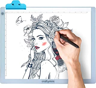 """LED Light Pad by Craftymint - Large Ultra Thin 19"""" Light Up Tracing Tablet - Portable USB Light Box for Diamond Painting and Light Drawing Board - Drawing Accessories and Gifts for Artists"""