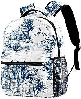 Yuzheng Arma de águila de Bandera Americana Bolso Durable del Viaje de la Mochila de la Capacidad de la Moda Unisex de la Mochila para Acampar, Compras, el Subir 29.4x20x40cm