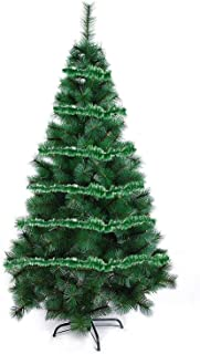 Evisha 2 Pcs Green Christmas Tree Tinsel Merry Christmas String Garlands for Christmas Party Decoration