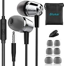 Blukar Auriculares In Ear, Auriculares con Cable y Micrófono Headphone Sonido Estéreo para Samsung Galaxy, Huawei, XiaoMi, PC, MP3/MP4 Android y Todos los Dispositivos de Auriculares de 3,5 mm