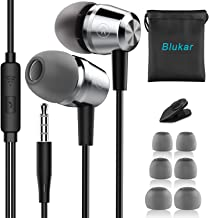 Earphones, Blukar In-Ear Headphones Earphones with High Sensitivity Microphone - Noise Isolating, High Definition, Pure Sound for iPhone, iPod, iPad, MP3 Players, Samsung Galaxy,etc.