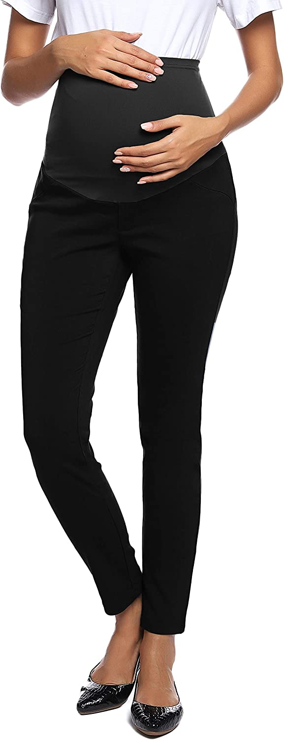Maacie Women's Maternity Secret Fit The Pants Year-end gift Casual Over Belly Sale Special Price