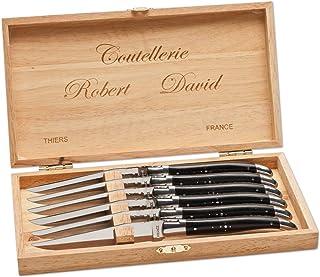 Robert David Paperstone 02RD014 - Juego de cuchillos para carne (longitud de la hoja: 11,3 cm, talla única), color negro
