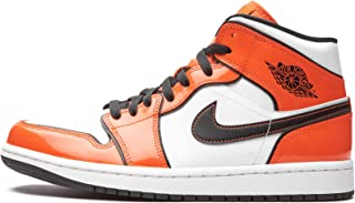 Nike Air Jordan 1 Mid Turf Arancia/Nero Bianca DD6834-802 Uomini, (Tappeto erboso Arancione/Nero-bianco), 45 EU