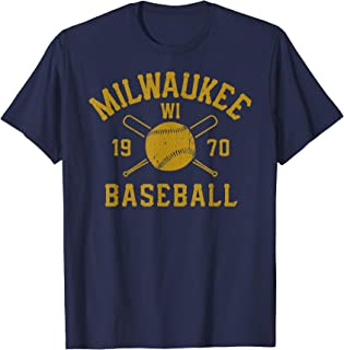Vintage Milwaukee Baseball Wisconsin Brewer Retro Gift T-Shirt