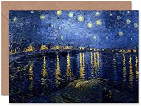 Vincent Van Gogh Starry Night 1888 Old Master Painting Sealed Greeting Card Plus Envelope Blank Inside