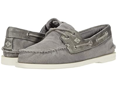 Sperry A/O 2-Eye Garment Wash (Grey) Men