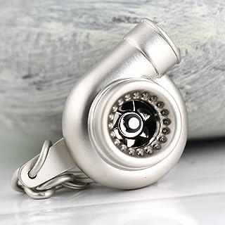 muchkey® 1x creative Spinning Turbo Schlüsselanhänger Fashion Turbolader Schlüsselanhänger Ring Schlüsselanhänger silber matt