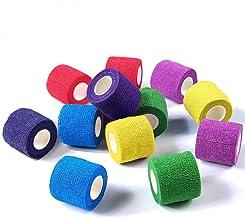 WePet Vet Wrap, Vet Tape Bulk Self-Adherent Gauze Rolls Non-Woven Cohesive Bandage First..