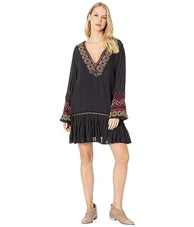 Free People Wild One Embellished Mini Dress (Black) Women