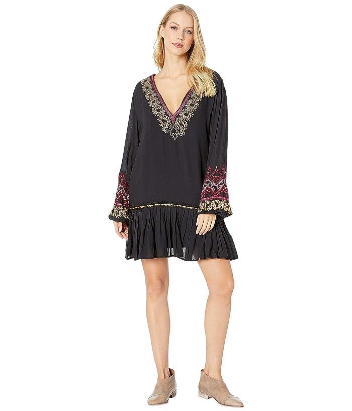70s Dresses – Disco Dress, Hippie Dress, Wrap Dress Free People Wild One Embellished Mini Dress Black Womens Dress $104.19 AT vintagedancer.com