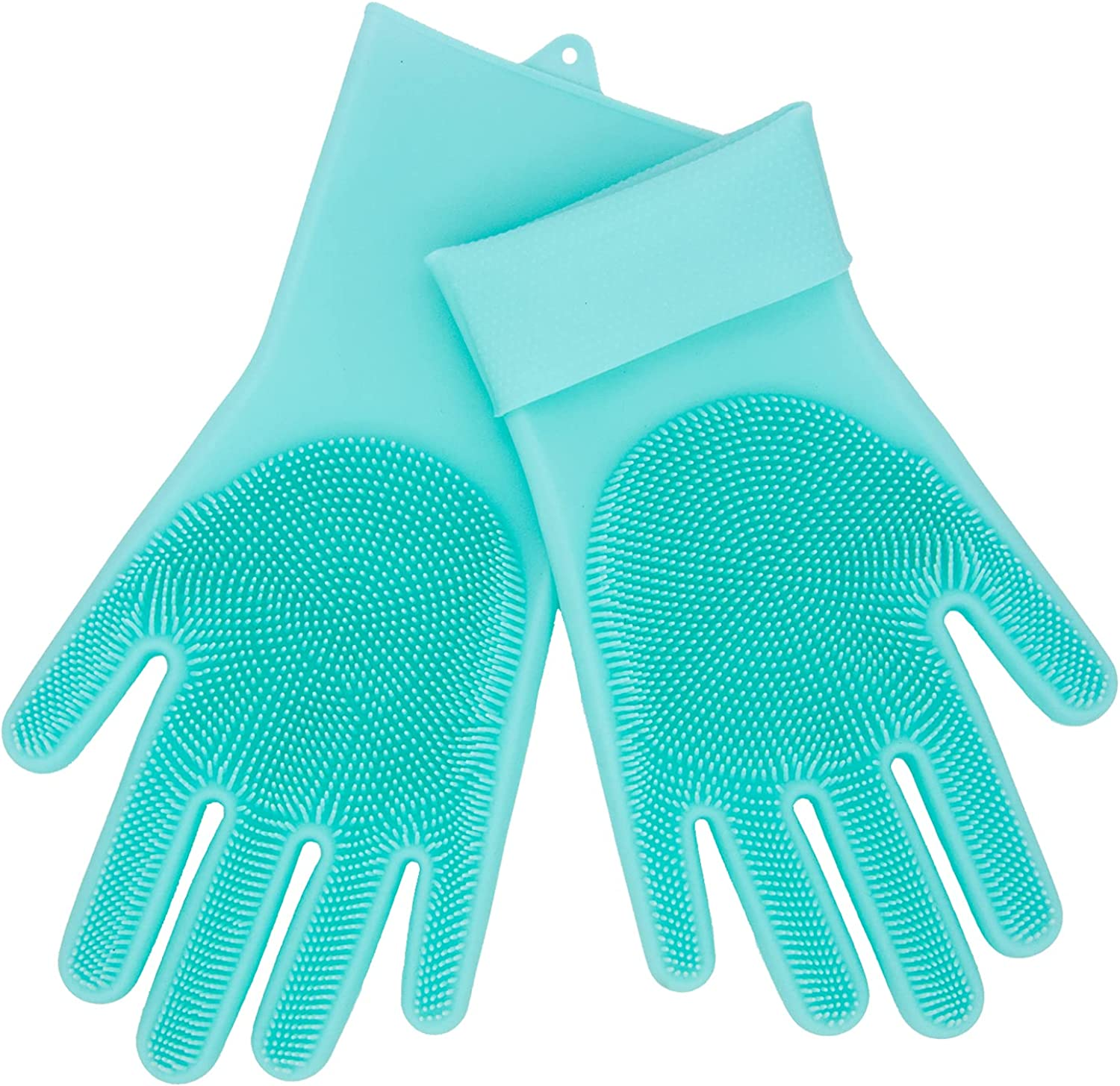 Silicone Dishwashing Gloves Reusable Non slip Heat Resistant for Kitchen Bathroom Car Wash Pet large 240g thick 1 Pair