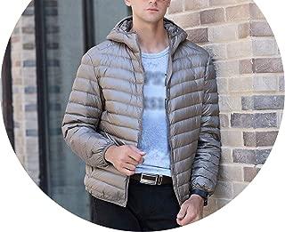 Arrive White Duck Down Jacket Men Autumn Winter Warm Coat Men's Light Thin Duck Down Jacket Coats