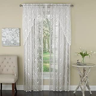 Songbird Lace Rod Pocket Curtain Panel, 56W x 84L, Ivory