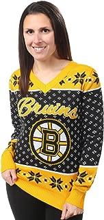 NHL Womens Big Logo V-Neck Sweater, Team Options