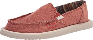 Sanuk womens Donna Hemp Loafer, Auburn, 7 US