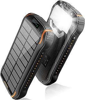 comprar comparacion elzle Cargador Solar 26800mAh, Solar Power Bank 15W (5V / 3A) Salida de Carga rápida Resistente al Agua con Dos Salidas US...