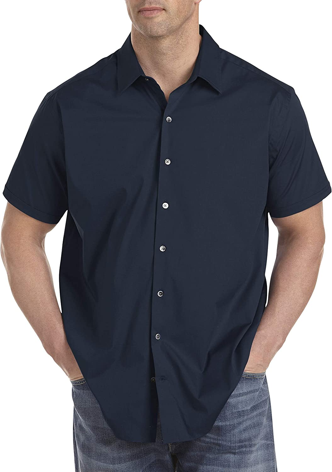 Twenty-Eight Degrees by DXL Big and Tall Solid Stretch Sport Shirts