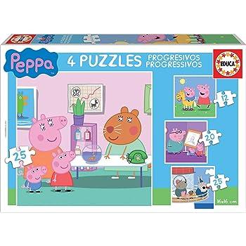 Peppa Pig Progressive Puzzle 12, 20 and 25 Pieces (Educa Borrás 16817) - Assorted Colour/Model