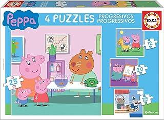 Educa - Peppa Pig Conjunto de Puzzles Progresivos, Multicolor, unica (16817)